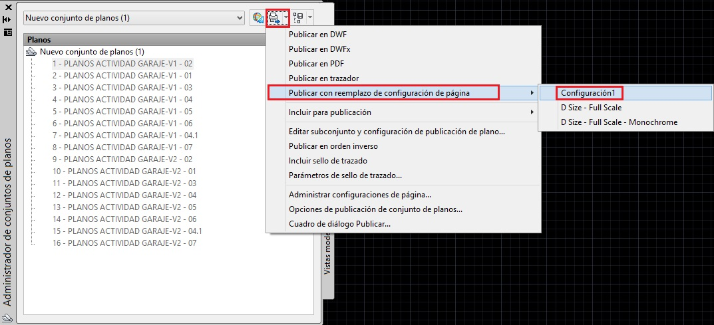 conjunto de planos en AutoCAD