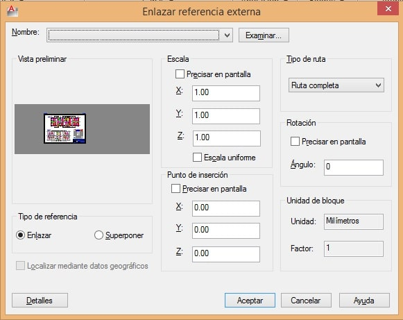 insertar referencia externa dwg en autocad