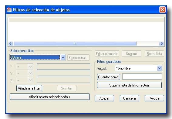 Orden filter Autocad. Seleccionar objetos