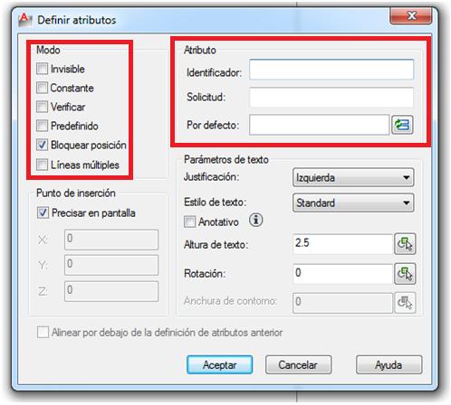 AutoCAD Bloques con atributos