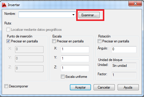 error escala bloque autocad