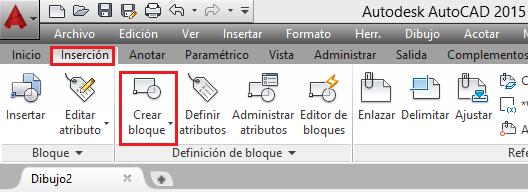 AutoCAD 2015 como crear bloques en AutoCAD