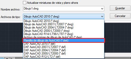 Crear plantilla en AutoCAD
