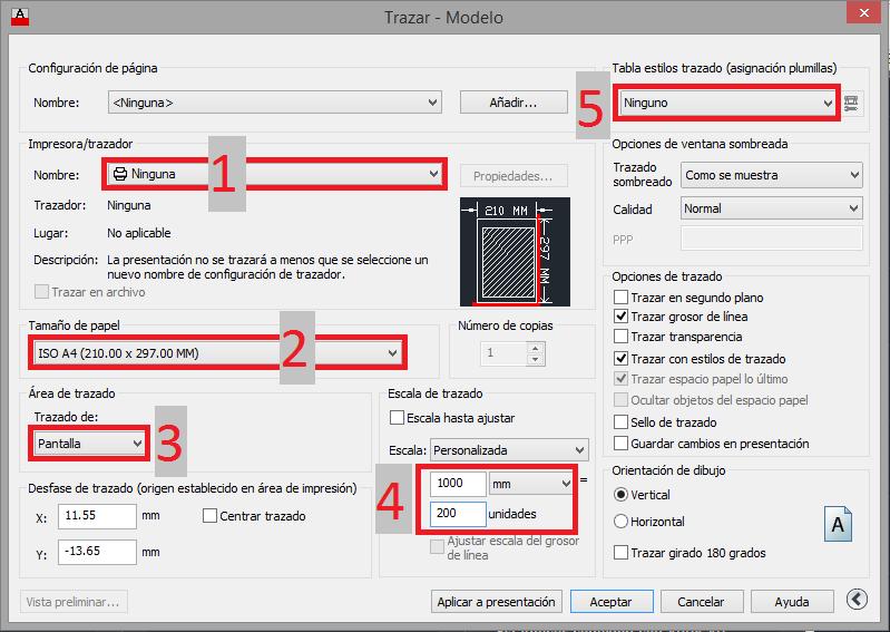 Configurar la impresión en AutoCAD