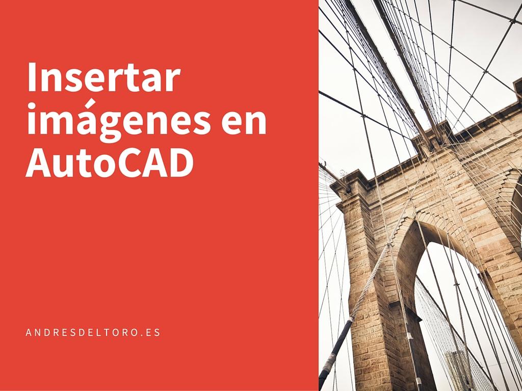Como insertar una imagen en AutoCAD