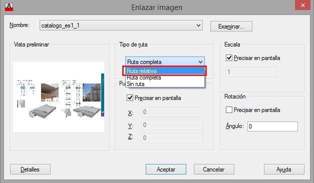 Insertar imagen en autocad