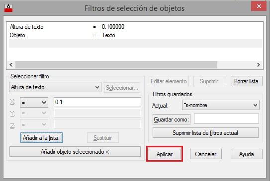 cambiar la altura de texto en AutoCAD