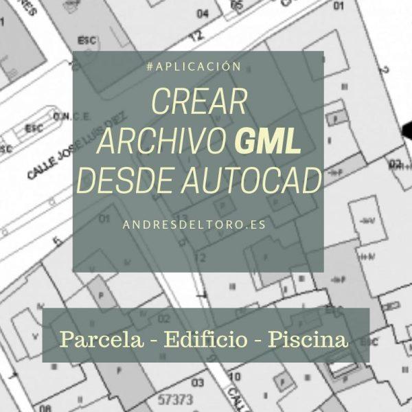 GML AutoCAD Parcela Edificio Piscina