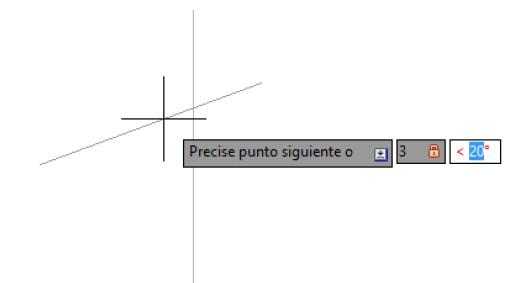 Dibujar una linea en autocad conociendo el angulo