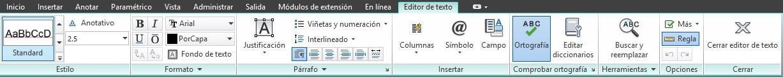 Texto de lineas multiples de AutoCAD