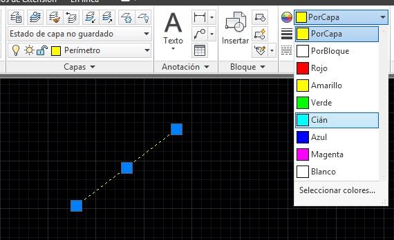 cambiar el color de un objeto en autocad