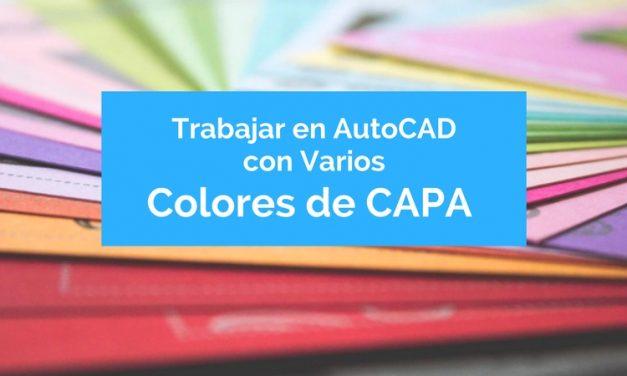 Trabajar en AutoCAD con varios colores en una misma capa