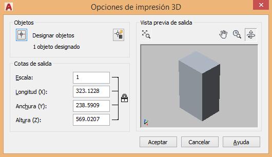 Imprimir 3D en AutoCAD