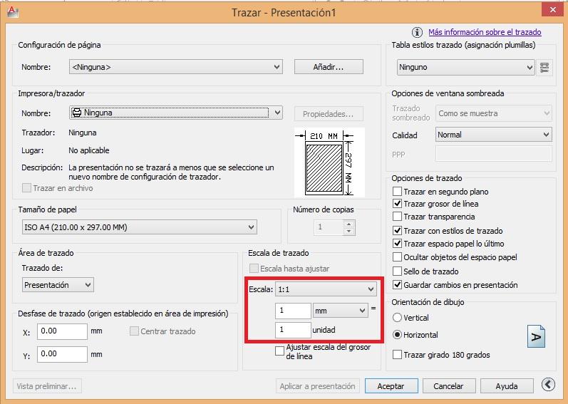 Imprimir espacio papel AutoCAD
