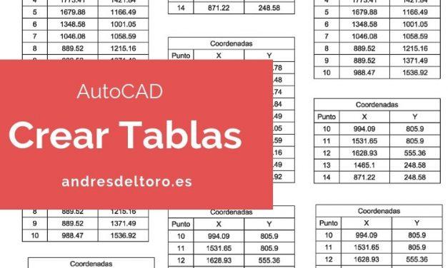 Cómo crear tablas en AutoCAD