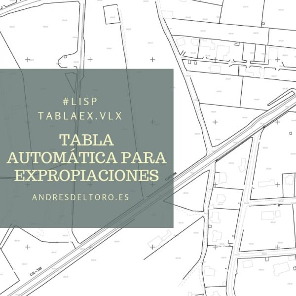 Tabla expropiaciones AutoCAD