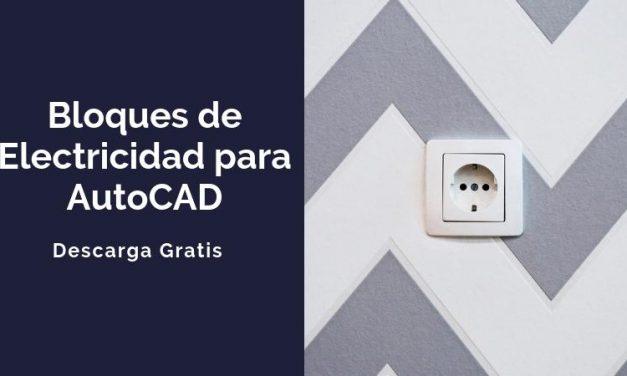 Bloques de AutoCAD de electricidad para descargar