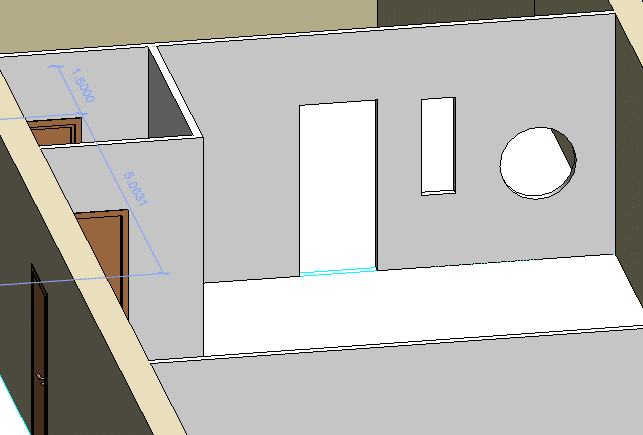 Insertar huecos de puertas y ventanas en tabiques y muros de Revit