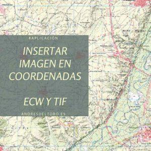 Insertar imagen ecw tif en coordenadas en autocad