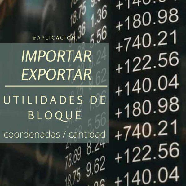 Utilidades para bloques importar exportar coordenadas descarga